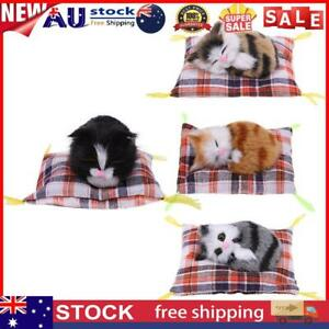 Cute Simulation Plush Sleeping Cat Stuffed Doll Toys Kids Gift Photo Prop