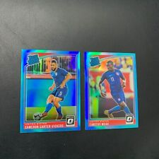 (2) 18-19 PANINI OPTIC RATED RC CARTER-VICKERS & TIMOTHY WEAH RC BLUE REF /149