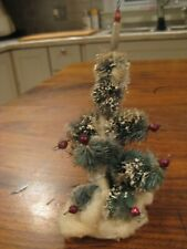 Vintage Little Bottle Brush Tree with Glass Balls Lot Sm-163
