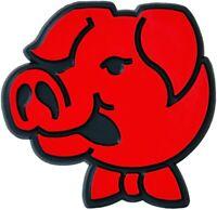 3D Relief Schild rote Metzger Sau Schweinchen Emblem Aufkleber HR Art. 47893