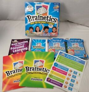 NEW Educational Game Complete Set W DVD'S Brainetics Math/Memory Game