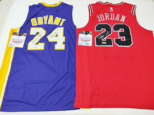 2 Legends Bulls #23 & Lakers #24 Autographed 2 Jersey with COA
