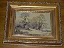 JAMES WRIGHT ORIGINAL LANDSCAPE PAINTING Art On a Cold Winters Day Framed