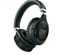 Véritable casque sans fil 3D stéréo Bluetooth pliable FM TF réduction du bruit