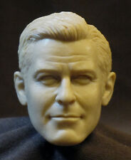 "CUSTOM George Clooney UMPAINTED RESIN HEAD SCULPT. Action figures 1/6, 12"" V-140"