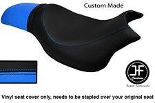 Negro Y Azul Claro Vinilo personalizado para HYOSUNG GV 650 Aquila 04-11 Doble Cubierta de asiento