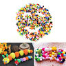 1000 Stück DIY Mischfarbe Mini weiche flauschige Pom Poms Pompoms Ball 10mm EF