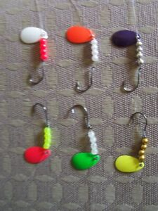 12 Walleye Panfish Spinners Single Hook Economy Rigs  Baits Lures Trolling
