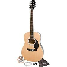"Maesto by Gibson - MA38NACH - Natural Finish 38"" Parlor Size Acoustic Guitar Kit"