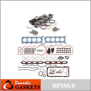 04-06 Ford Lincoln 5.4L 3-Valve SOHC Full Gasket Piston Bearing&Ring Set VIN 5 V