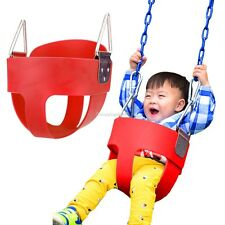 Full-Bucket Swing Seat Playground Swingset Baby Kids Toddler Park Swing