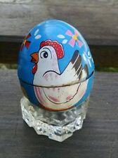 Haji Japan Tin Windup Chick in Egg, Blue Egg!  Works Wonderfully!  With Key!