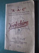 The RAC county road map & gazetteer  'Yorkshire'  No 13  1930's 4th edition