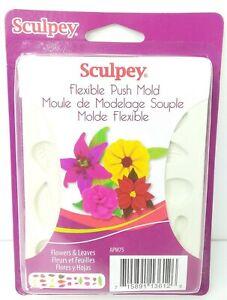 Sculpey Flexible Push Mold Flowers & Leaves APM75 NOC DA92984