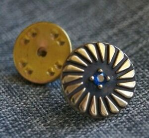*Retired* James Avery 14k Gold Pin Wheel Tie Tac with Alexandrite