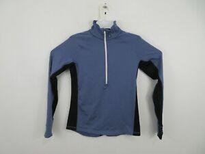Under Armour 1/2 Zip Shirt Jacket Pull Over Running Athletic Blue Womens Medium