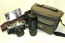 PENTAX K-1000 K1000 35mm SLR Film Camera w/ 2 Lenses & Bag.WORKS/GREAT 4 Student