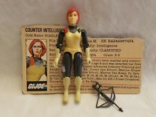 GI JOE 1982 Scarlett Straight Arm Action Figure 100% Complete w File Card