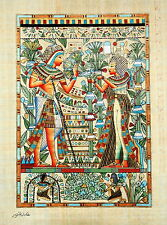 "Egyptian Papyrus - Hand Made -12"" x 16"" - Ancient Art -King Tut's Wedding Card"