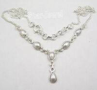 "925 Sterling Silver Exclusive FRESH WATER PEARL MODERNISTIC Necklace 18 5/8"" NEW"