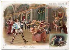"""CHROMO """"Au Bon Marché"""" = LE NAIN JAUNE 6 + Dindes, chat, épée et couteau"""