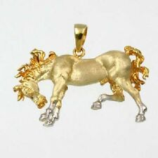 3D CHARGING HORSE PENDANT IN 14K YELLOW GOLD 26-2