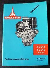 Deutz Motoren F 3-6 L 911 + 912 Betriebsanleitung