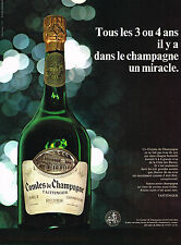 """PUBLICITE 1968   TAITTINGER   champagne """"MIRACLE"""""""