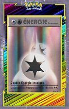 🌈Double Energie Incolore Reverse - XY12-90/108 - Carte Pokemon Neuve Française