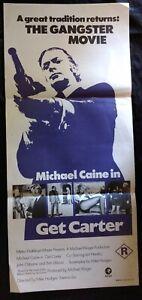 Get Carter Tales 1971 Original Australian Daybill Movie Poster