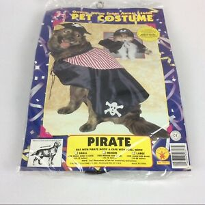 Rubies Cute Dog Halloween Costume Pirate Size Large (18-20 in) 2 Piece Set