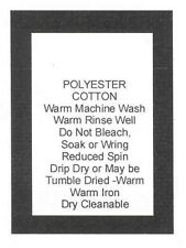 250 Care Labels Washing Instructions on soft satin - Polyester Cotton