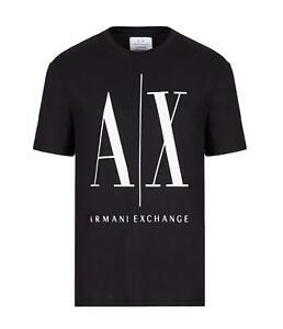 AX Armani Exchange - Camiseta negra con logo para hombre