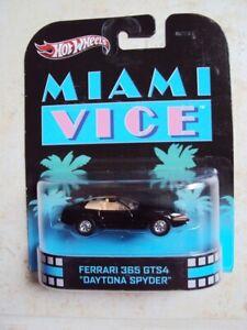 Hot Wheels Retro Entertainment Miami Vice Ferrari 365 Daytona Spyder MIP 2012