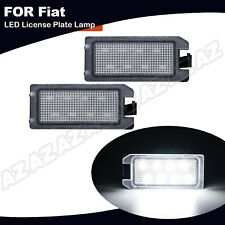 2X LED License Plate Light For Fiat 500 2013-19 Dodge Viper Jeep Grand Cherokee