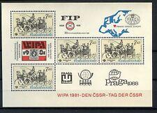 Cecoslovacchia 1981 SG #MS 2576 WIPA TIMBRO ESPOSIZIONE MNH M / S #A 53661