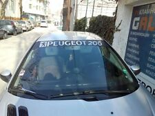 Reflective Front Windshield Decal Vinyl Car Stickers for PEUGEOT 206