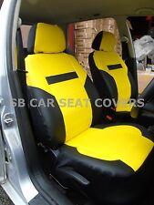 i - TO FIT A MERCEDES E CLASS CAR, SEAT COVERS, PRESTIGE PVC, YELLOW/black
