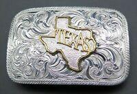 Texas Crumrine Cowboy Western Ornate Scroll Belt Buckle