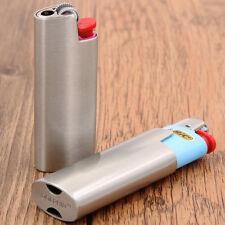 Brushed Silver BIC J5 lighters metal case holder for J25 mini size lighters,DF12
