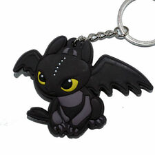 How To Train Your Dragon Toothless Night Fury Pendant Rubber Keyring Keychain