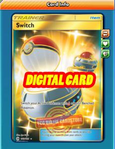 SR Switch SECRET RARE 160/149 for Pokemon TCG Online (PTCGO, Digital Card)