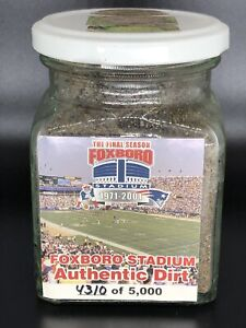 RARE 1971-2001 Foxboro Stadium Final Season Field Dirt New England Patriots