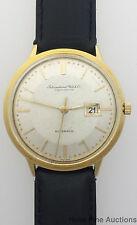 Scarce Heavy 18k Gold IWC 21J Caliber 8531 Sweep Calendar Automatic Watch