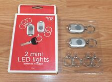 Target Brands 2008 (092140238) One Set of 2 Mini Led Lights Key Chains in Box