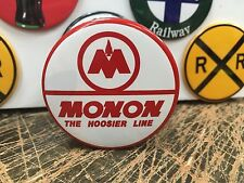MONON the HOOSIER LINE railroad RAILWAY full backed refrigerator MAGNET