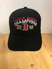 Boston Red Sox World Series Champions 2018 Baseball Hat Black