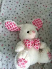 Plush Easter Bunny Rabbit Pink White Bow Tie Stuffed Animal Clean Excellent $30