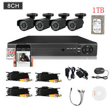 8CH 960H HDMI 1TB DVR 800TVL Outdoor CCTV Home Security Waterproof Camera System