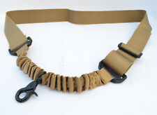 Nylon Bungee Single Point One Point Sling Tactical Rifle Gun Sling - Dark Earth